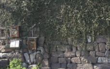 石墙风景图片