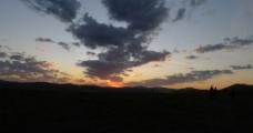 壩上草原日出圖片