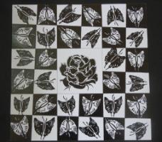 蝴蝶花紋圖片