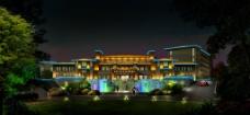 夜景小区建筑景观亮化效果图图片
