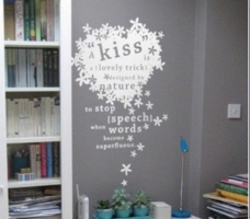 kiss开心墙贴图片