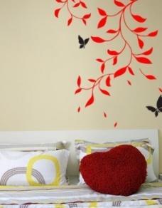 春意 墙贴 沙发墙贴图片