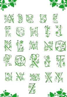 26英文字母艺术字体