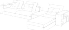 沙发线条图片