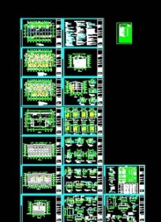 住宅楼CAD设计图 风景区酒店CAD大样图图片