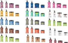 洗发水和焗油包装设计图片