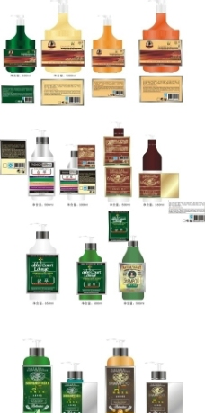 洗发水包装设计图片