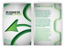 绿色动感箭头线条企业画册设计图片