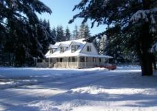 雪景别墅图片