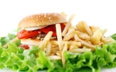 汉堡 沙拉图片