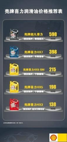 润滑油价格展架图片