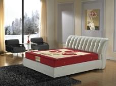 家具床摄影高清图图片
