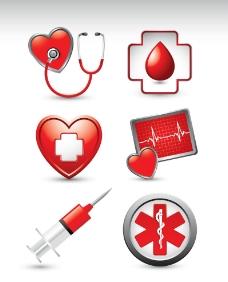 医院医疗图标矢量图片