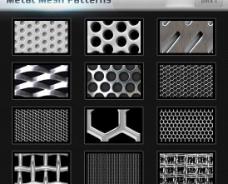 photoshop填充素材之金属网素材金属丝填充图片