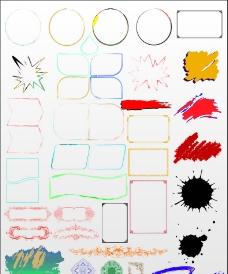 各种样式矢量边框图片