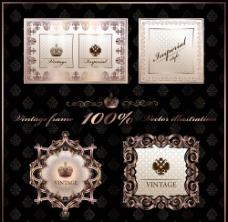 古典花纹欧式花纹边框标签图片