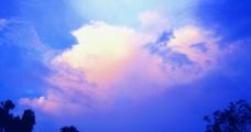 雨后夕阳分外美图片