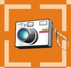 数码照相机矢量图图片