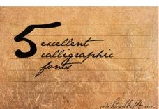 5款手写英文字体