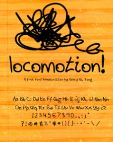 手绘风格locomotion字体