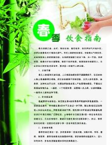 春季饮食指南宣传展板图片