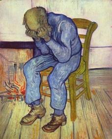 哭泣的老人图片