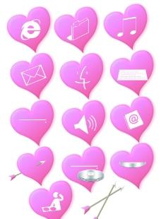 粉色桃心图标图片