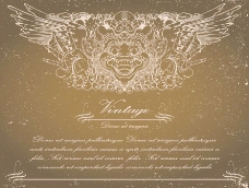 古典花纹欧式花纹翅膀图片