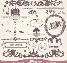 古典花纹欧式花纹边框装饰元素图片