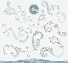 古典花纹欧式花纹花边装饰元素图片