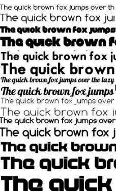 七款国外酷炫字体