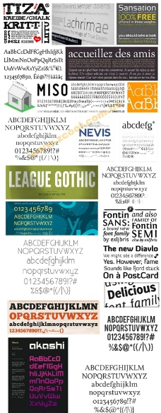 22款精美的英文字体集合