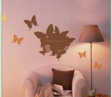 墙贴矢量图 蝴蝶图片