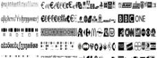 46款标志图案字体大全