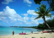 塞班岛风光 海边 度假村图片