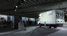 奔驰卡车车展图片