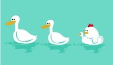 漫画 鸭子图片