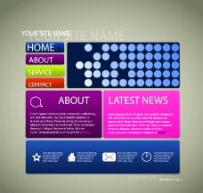 网站设计矢量模板图片
