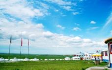 草原蒙古包图片
