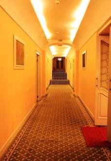 马迭尔饭店内廊图片