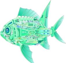 矢量科技鱼图片