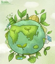 绿色环保海报设计图片