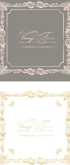 欧式金色花纹边框图片