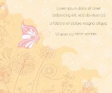 浪漫欧式花纹古典花纹蝴蝶图片
