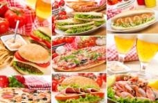 汉堡组合图片