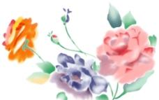 水彩朵花图片