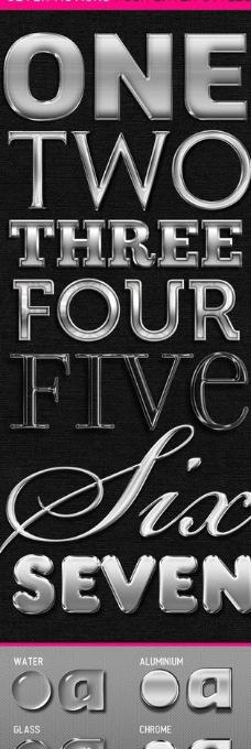 7种ps金属字体动作图片