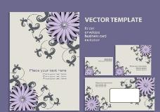 时尚梦幻花纹花朵企业画册设计图片