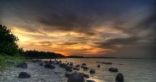 海岸落日风光图片