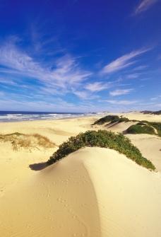 蓝天 白云 沙漠图片